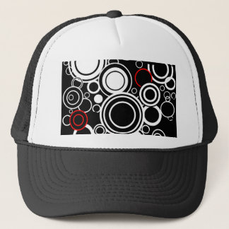 Retro Red And White Circles Trucker Hat