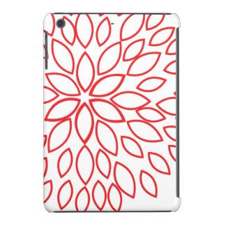Retro Red and White Flower iPad Mini Retina Case