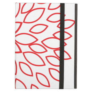 Retro Red and White Flower Case For iPad Air