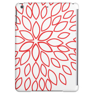 Retro Red and White Flower iPad Air Covers