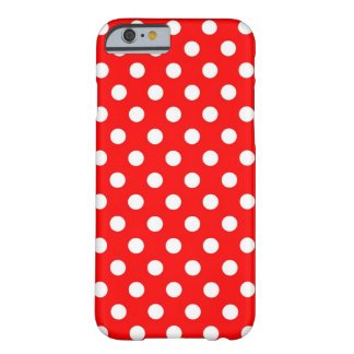 Retro Red and White Polka Dots iPhone 6 case Barely There iPhone 6 Case