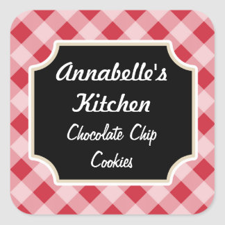 Retro Red Black Kitchen Stickers
