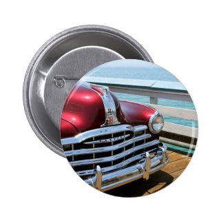 Retro Red Car 2 Inch Round Button