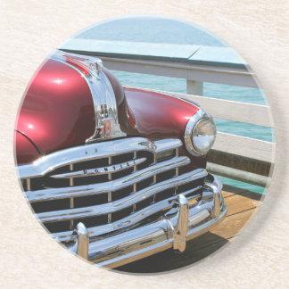Retro Red Car Coaster