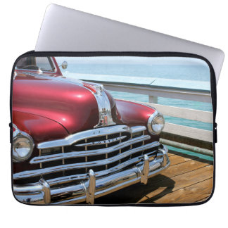 Retro Red Car Laptop Sleeve
