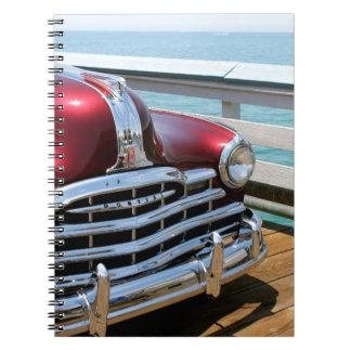 Retro Red Car Notebooks