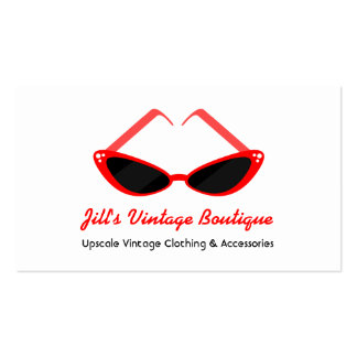 Retro Red Cat Eye Sunglasses Double-Sided Standard Business Cards (Pack Of 100)
