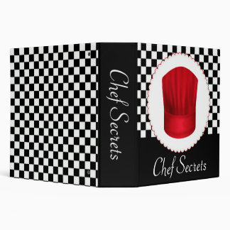 Retro Red Chef Hat Recipe Binder
