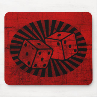 Retro Red Dice Mouse Pad