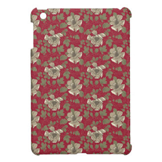 Retro Red Floral iPad Mini Cases