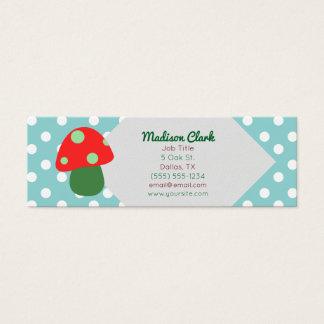 Retro Red Mushroom Business Cards