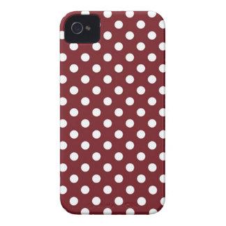 Retro Red Polka Dot Iphone 4/4S Case