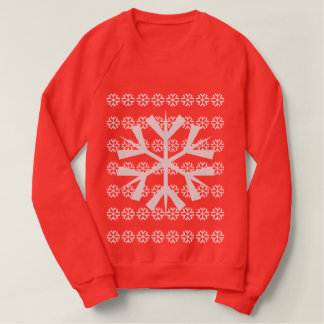 Retro Red Snow Flake Jumper Sweatshirt