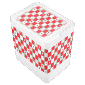 Retro Red Starbursts Igloo Can Cooler