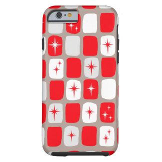 Retro Red Starbursts iPhone 6/6S Phone Case