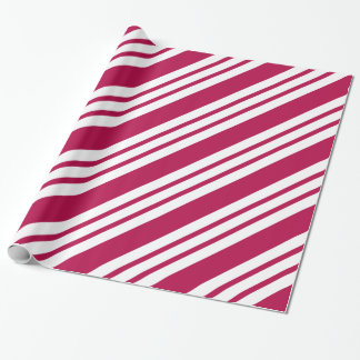 Retro Red Striped Christmas Candy Wrapping Paper