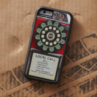 Retro Red Toughie iphone Cover