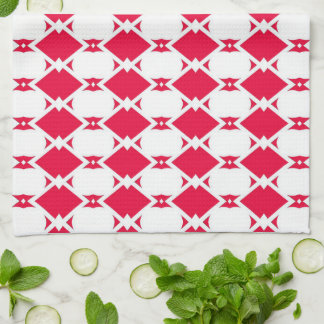 Retro red & white kitchen towel