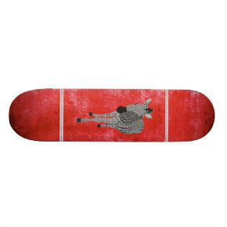 Retro Red Zeb Skateboard