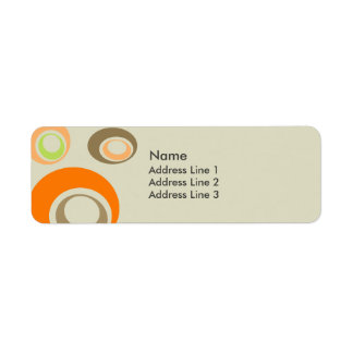Retro Return Address Label