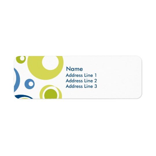 Retro Return Address Label