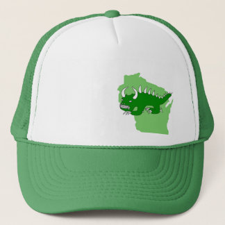 Retro Rhinelander Hodag and Wisconsin Hat