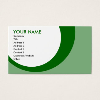 retro rings greens business card