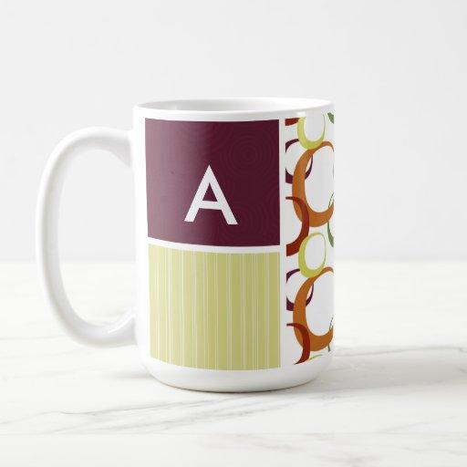 Retro Rings Pattern Coffee Mug