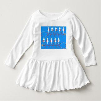 Rétro robe de ruche d'enfant en bas âge tshirts