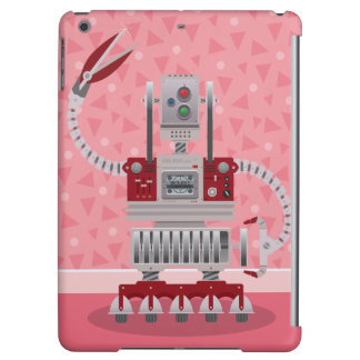 Retro Robot Pink iPad Air Covers