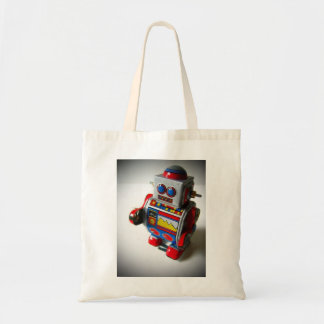 Retro Robot tote bag