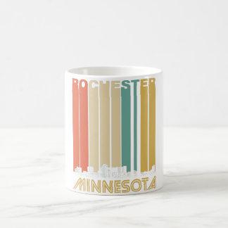 Retro Rochester Minnesota Skyline Coffee Mug