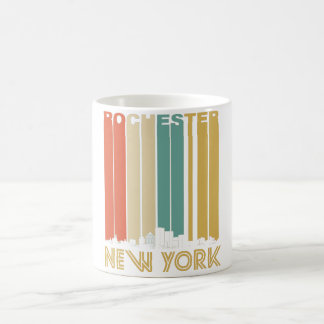 Retro Rochester New York Skyline Coffee Mug
