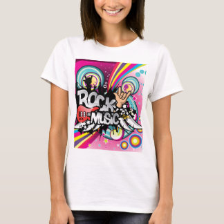 retro rock music tshirt