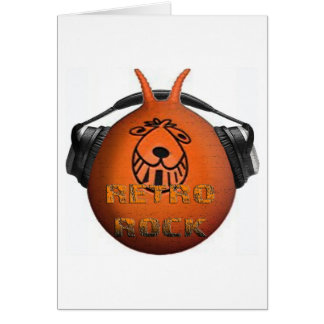 Retro Rock Space Hopper Card