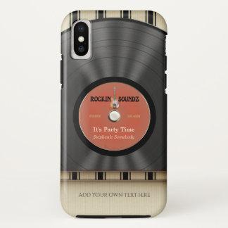 Retro Rock Vinyl LP Record iPhone X Case