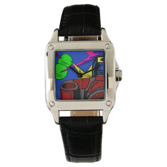 retro rockabilly camera design for wrist watch