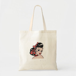 Retro Rockabilly Tattoo Gal Tote Bag