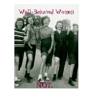 Retro/Rockabilly women postcard