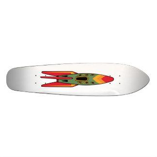 Retro Rocket - Color Skateboard Deck