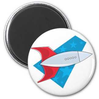 Retro Rocket Ship Magnet