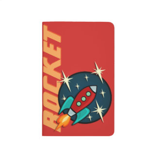 RETRO ROCKET SHIP POCKET JOURNAL