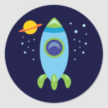 Retro Rocket Stickers