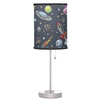 Retro Rockets Table Lamp