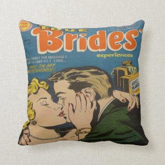 Retro Romance Comic Book Decorative Throw Pillows
