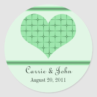 Retro Romance Save the Date Stickers