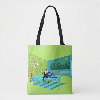 Retro Romantic Gay Couple Tote Bag