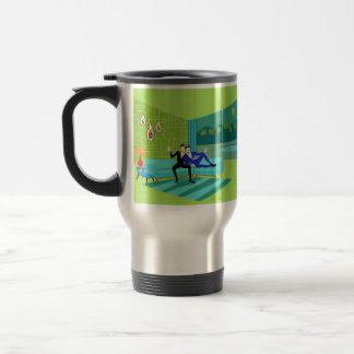 Retro Romantic Gay Couple Travel Mug