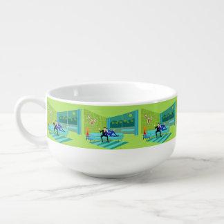 Retro Romantic Gay Soup Mug