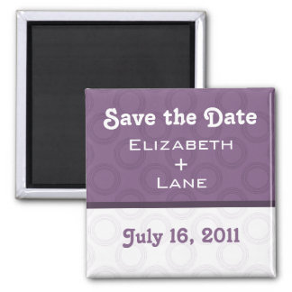 Retro Romantic Save the Date Magnet